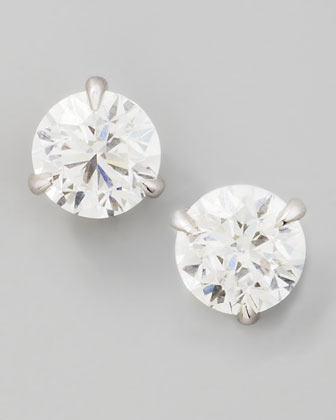 18k White Gold Diamond Stud Earrings, 1.01ctw G-H/SI1
