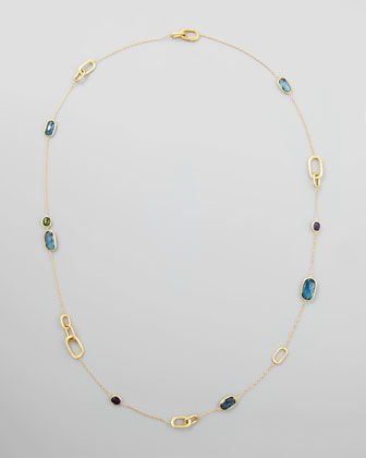 Murano Multi-Stone Link By-the-Yard Necklace