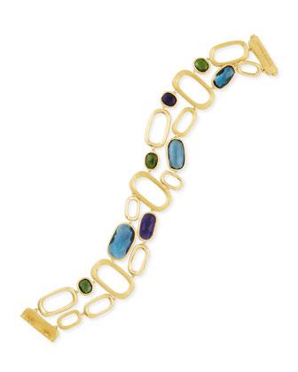 Murano 18k Gold Multi-Stone Link Bracelet
