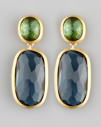 Murano 18k Two-Stone Drop Earrings