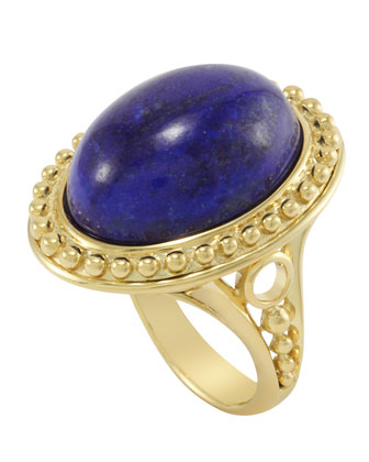 18k Oval Lapis Ring