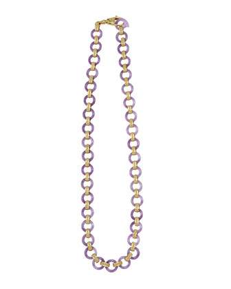 18k Lavender Jade Link Necklace
