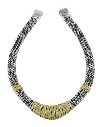 Embrace Caviar Diamond Necklace