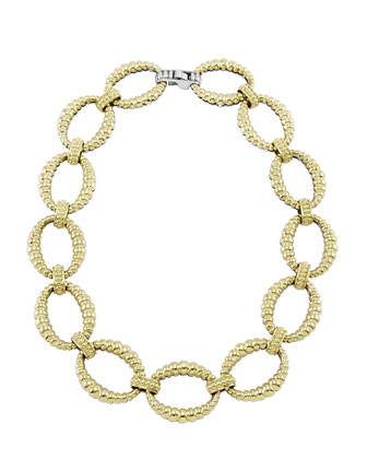 Reversible 18k Gold/Sterling Silver Link Necklace