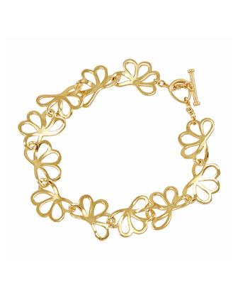 18k Gold Petal Toggle Bracelet