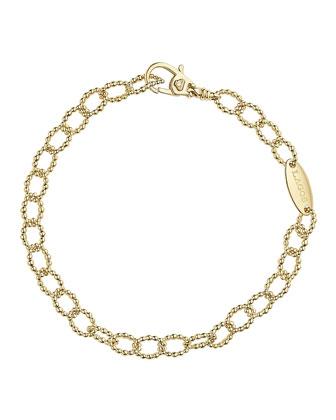 18k Oval Fluted Link Bracelet