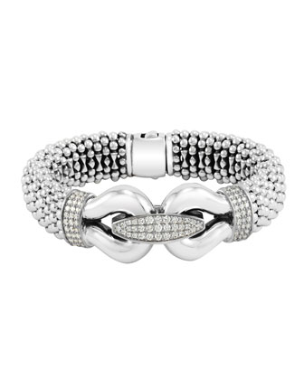 Derby Pave Diamond Bracelet, 18mm
