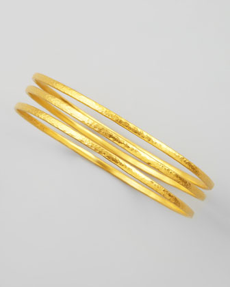 Constellation 24k Gold Bangles, Set of 3
