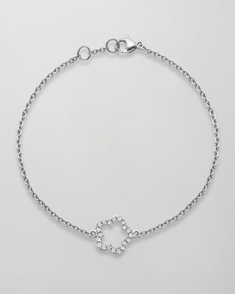 Eden 18k White Gold Diamond Single Flower Bracelet