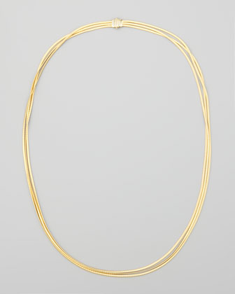Cairo 18k Three-Strand Necklace