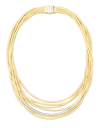 Diamond Cairo 18k Nine-Strand Necklace