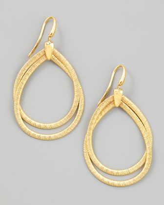 Cairo 18k Medium Gold Tiered Hoop Earrings