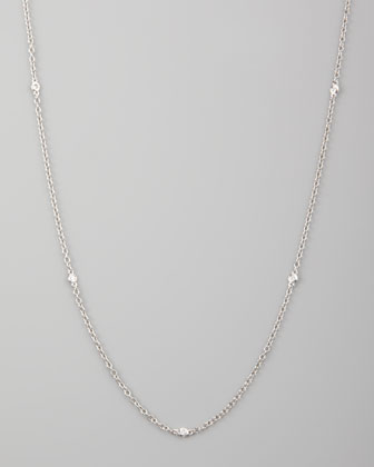 18k White Gold Diamonds By-the-Yard Necklace