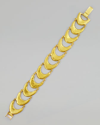 Arc 24K Gold All-Around Half Moon Bracelet