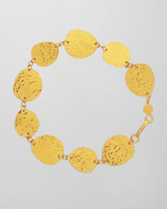 Contour 24k Gold All-Around 1-Strand Bracelet