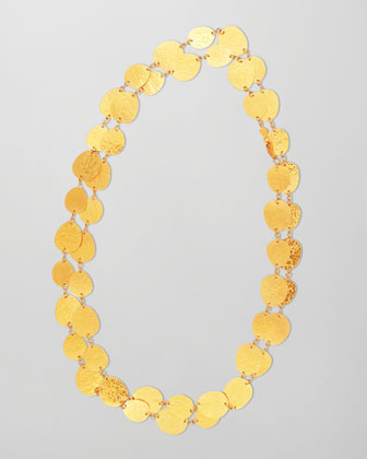 Contour 24k Gold All-Around 1-Strand Necklace, 39