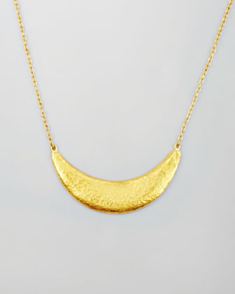 Arc 24k Gold Half Moon Necklace
