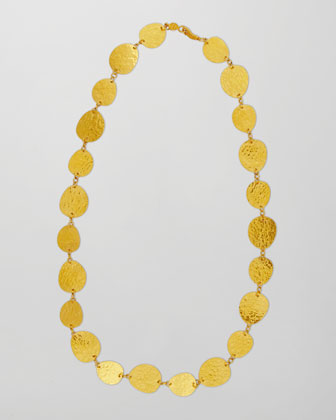 Contour 24k Gold All-Around 1-Strand Necklace, 17