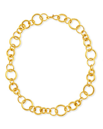 Hoopla Collection 24k Gold Chain Necklace, 18