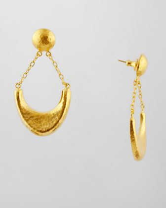 Arc 24k Gold Half Moon Post Earrings