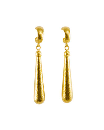 Splash 24k Gold Long Drop Earrings