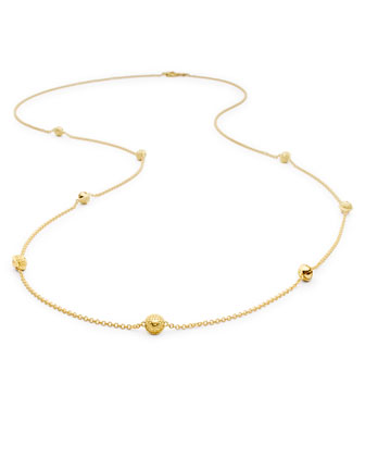 18k Gold Jingle Meditation Bell Necklace, 36
