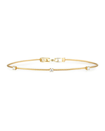 18k Yellow Gold Three-Diamond Bracelet, 0.18 TCW