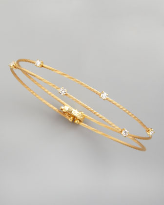18k Yellow Gold Six-Diamond Bracelet, 0.36 TCW