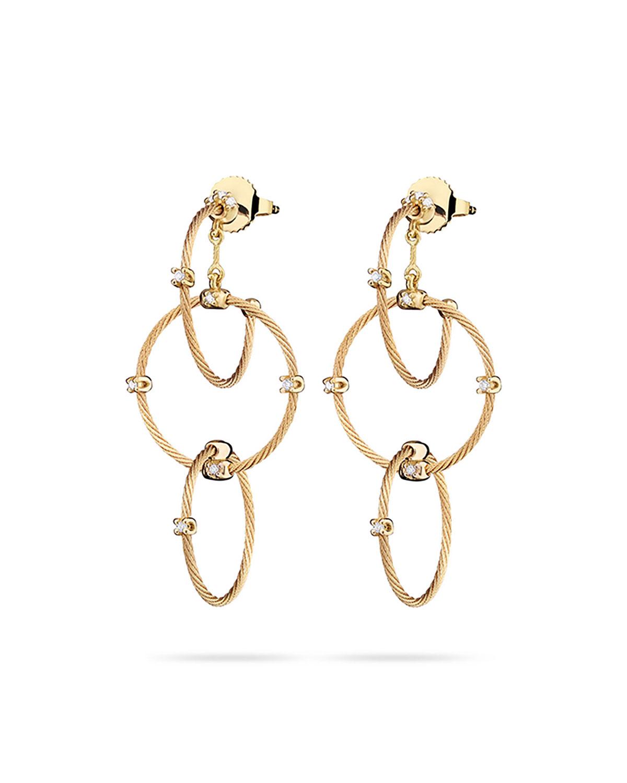 18k Yellow Gold Diamond Link Earrings, 41mm   Paul Morelli   Yellow (18k ,41mm )