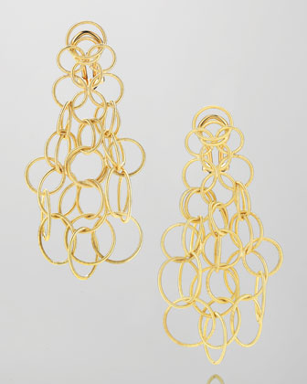 Hawaii 18k Gold Link Earrings