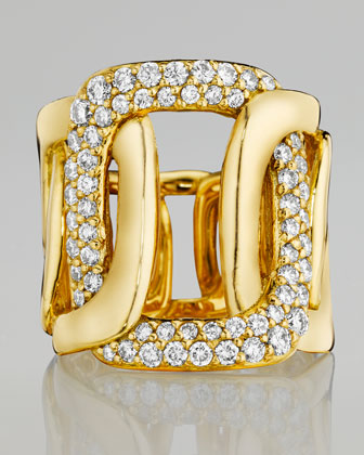 Piece 18k Yellow Gold 5-Link Diamond Ring