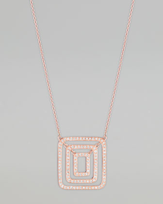 Piece 18k Rose Gold Diamond Pendant Necklace