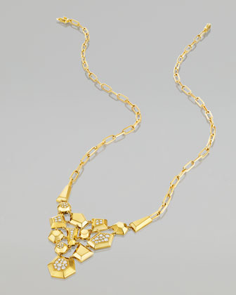Jackson 18k Gold Diamond Bib Necklace