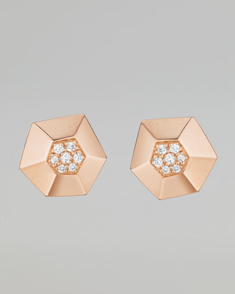Jackson Rose Gold Diamond Stud Earrings