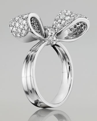Bow Small 18k White Gold Diamond Ring