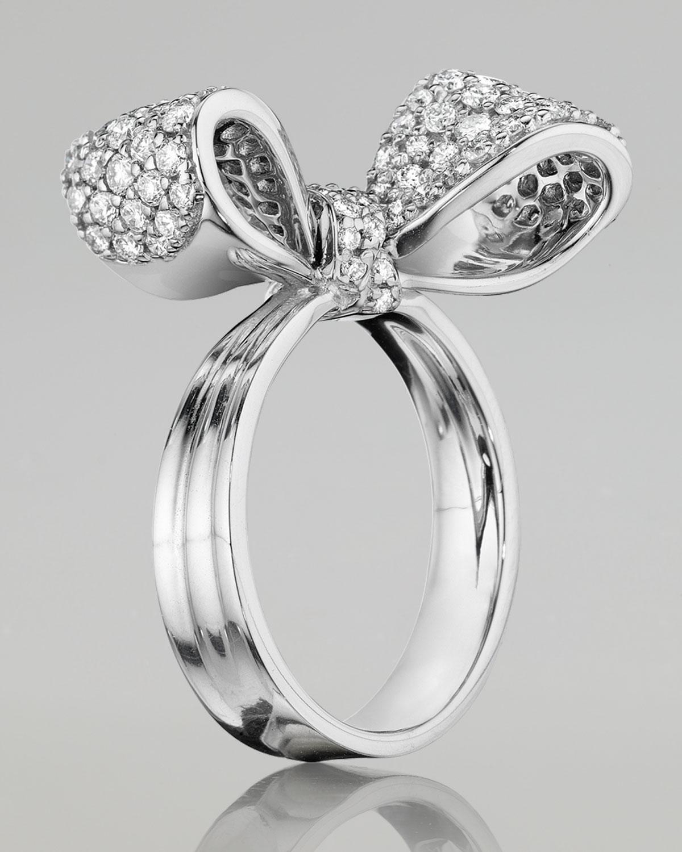 Bow Small 18k White Gold Diamond Ring   Mimi So   White (6)