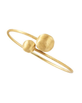 Africa 18k Gold Bypass Bangle