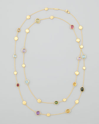 Japiur Color Semiprecious Station Necklace, 48