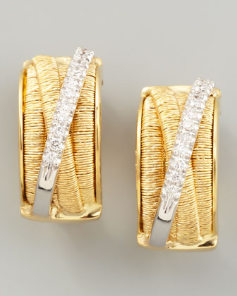 Diamond Cairo 18k Large Huggie Earrings with Diamonds