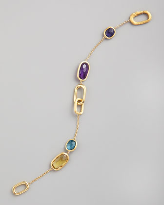 Murano 18k Polished/Brushed Semiprecious Bracelet