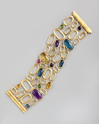 Murano 18k Wide Semiprecious Bracelet