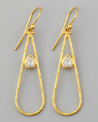 Glow 24k Teardrop Diamond Earrings