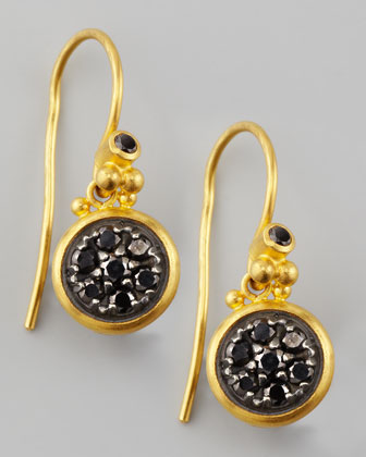 Moonstruck 24k Black Diamond Drop Earrings