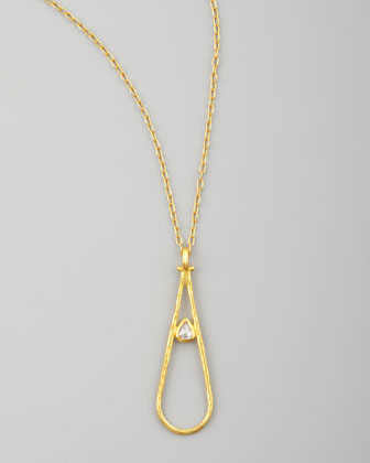 Glow 24k Teardrop Diamond Pendant Necklace