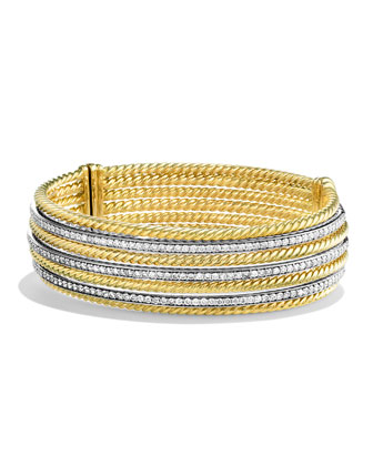 Lantana Bracelet with Diamonds in Gold