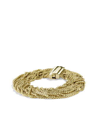 Box Chain Multi-Row Bracelet in Gold