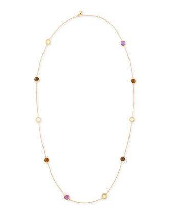 Ipanema 18k Gold Semiprecious Station Necklace, 40