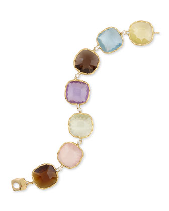 Ipanema 18k Gold Semiprecious & Diamond Bracelet