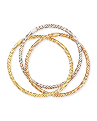 5mm Primavera 18k Mixed Gold Bracelet