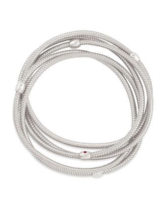 Primavera 18k White Gold 5-Strand Bracelet